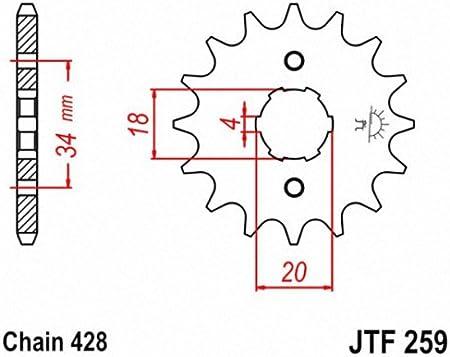 Details about  /JT Sprockets Steel Front Sprocket JTF1269.16