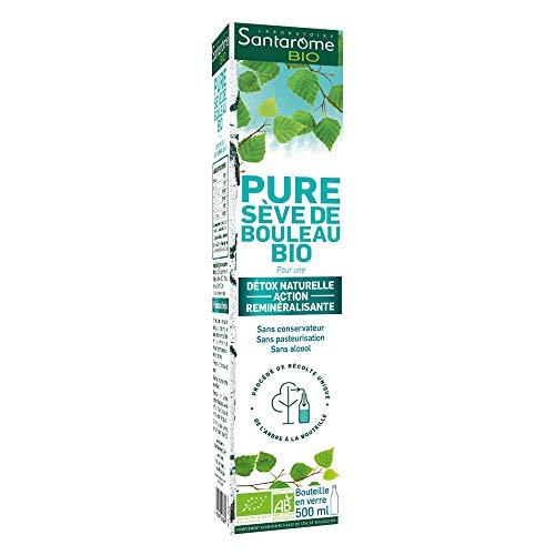 Santarome Bio Pure Sève de Bouleau Bouteille 500 ml Complément Alimentaire Detox Naturelle Programme 1 Semaine