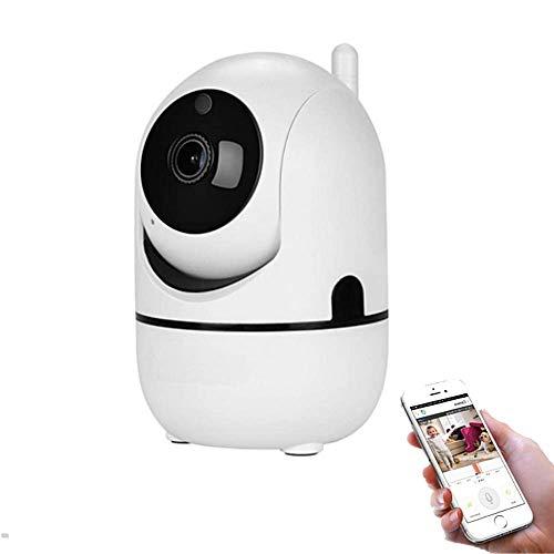 Cámara de Vigilancia y Seguridad WiFi 360 Grados Auto Tracking Interior con Detección de Movimiento, Visión Nocturna, Micrófono, Altavoz, Grabador de imágenes y Disco Duro – Smartfy