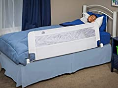 SWING DOWN: The patented swing down feature allows this bedrail to pivot down and out of the way when getting in and out of bed or removing sheets EXTRA LONG AND EXTRA SAFE: 54-inches long (hinge point) and 20-inch tall for added security EASY TO SET...