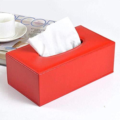 JIE Home Decoration Home en Hotel tafeldecoratie tissue-dozen, kunstleer gehaakte stoffen opbergdoos, Europese minimalistische stijl