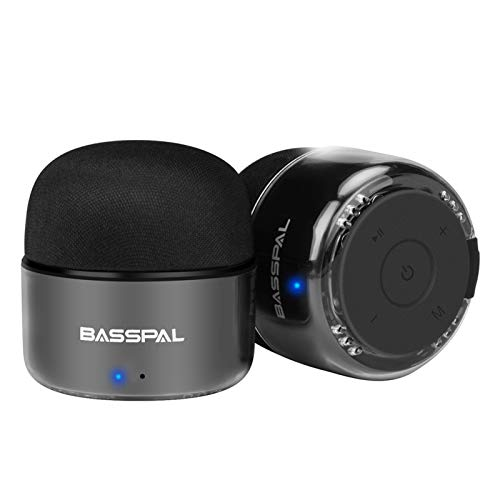 BassPal Portable Bluetooth Speakers, Small True Wireless Stereo (TWS) Speaker with Radio, IPX5 Waterproof, HD Sound & Enhanced Bass, Mini Pocket Size for Home Travel Shower Pool Beach Outdoor-2 Pack