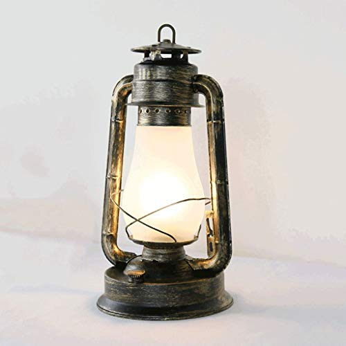 JYDQM Carpa de la lámpara que acampa retro creativa lámpara de keroseno bronce caballo linterna al aire libre de la lámpara que acampa de emergencia Lámpara colgante tormenta linterna huracán linterna