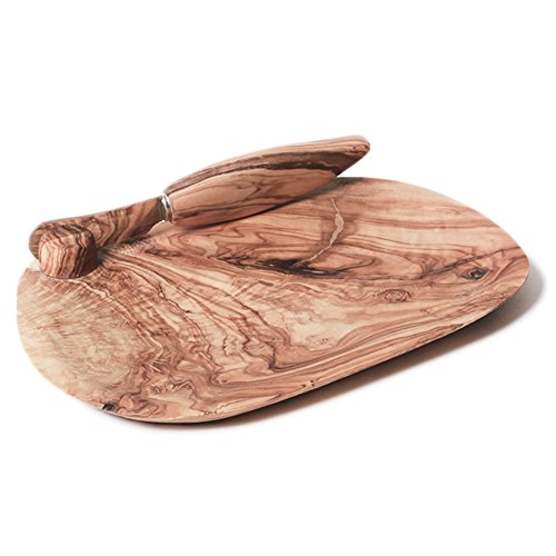 Berard Olive-Wood Handcrafted Butter Dish and Knife
