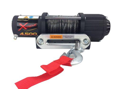 Tuff Stuff Xtreme 4500lb UTV Winch- Fully Waterproof, Synthetic Rope Wireless Remote & Universal Mount