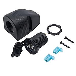 MASO 12 / 24V Cigarette Lighter Socket for Car, Motorbike & Motorhome Surface Dash Mount