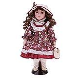 Fityle 12'' Porcelain Victoria Doll,Porcelain...