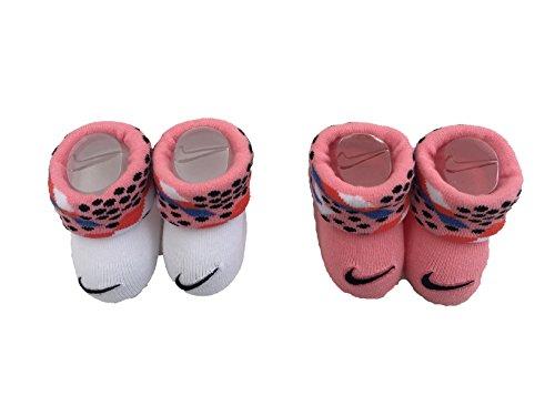 Nike Baby Futura Söckchen, Mehrfarbig (weiß/rosa), 0-6 Monate