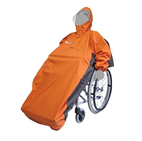【車椅子】車椅子用レインコート アクトフリーN ■ オレンジベース