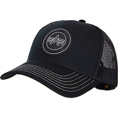 Alpha Industries Small Logo Trucker Cap (one Size, Black)