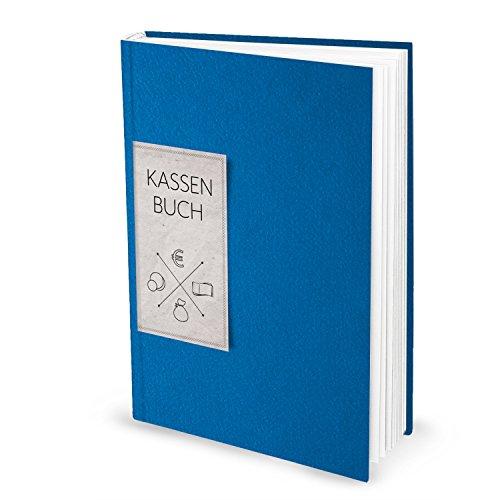 Ordnungsgemäßes Kassenbuch DIN A4 HARDCOVER BLAU für Barzahlungen - Übersicht Finanzen + Geld - Einnahmen + Ausgaben 148 Seiten Bar-Einzahlungen + Auszahlungen buchen Kassen-Buchführung Buchhaltung