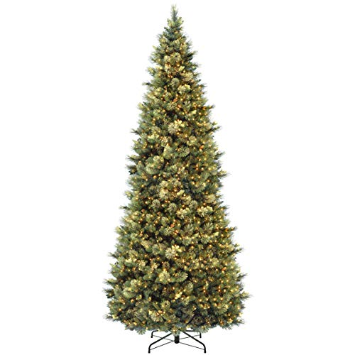 National Tree Company 'Feel Real' Pre-lit Artificial Christmas Tree   Includes Pre-strung White Lights and Stand   Carolina Pine - 12 ft