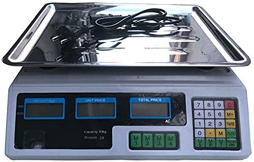 Roestvrij staal digitale Schaal Prijs, 88lb / 40kg elektronische weegschaal Berekening Prijs, LCD Digitale Telweegschaal Gewicht Equipment, Meats Retail Vlees Vruchten