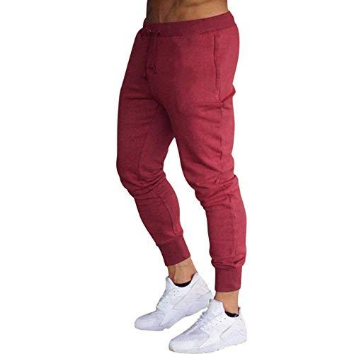 Zolimx Herren Jogginghose Sporthose Sweatpants Jogger Trainingshose Beiläufig Einfarbig Elastizität Schlank Hose