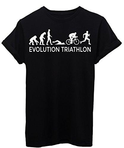 iMage T-Shirt Evoluzione Triathlon Sport - Evolution - Donna-M-Nera