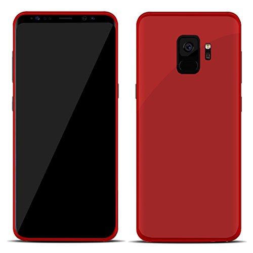 TBOC® Rot Gel TPU Hülle für Samsung Galaxy S9 SD845 (5.8 Zoll) Superdünn Flexibel Silikonhülle