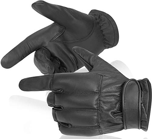 normani Security Quarzsandhandschuhe aus echtem Leder Farbe Kevlar/Schwarz Größe XL