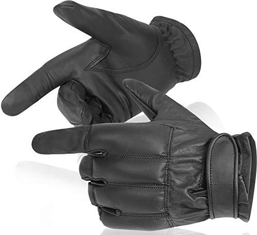 normani Security Quarzsandhandschuhe aus echtem Leder Farbe Kevlar/Schwarz Größe XXL