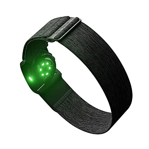 Natación Fitness Óptico Sensor de Frecuencia Cardíaca Tracker Negro (m-xxl)