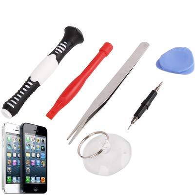 Dmtrab para 6 en 1, (Sucker + Crowbar + Pantalla de Pry + Pinzas + Destornillador Manija + Destornillador Dual) Conjuntos de Herramientas de Apertura Especial for iPhone 5 y 5s & 5c / iPhone 4 & 4s