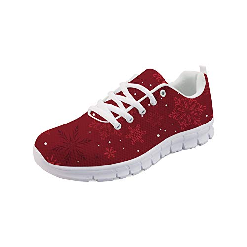 Coloranimal Merry Christmas Theme Laufen Jogging Sneakers für Frauen Air Mesh Leichte Lace-Up Sneakers Go Easy Walking Flache Schuhe