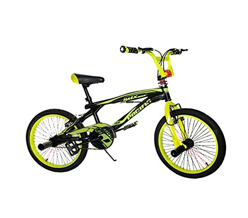 2058-3.0 Bicicleta BMX PACIF FREESTYLE para niños tamaño 20 ruedas FAT - Amarillo