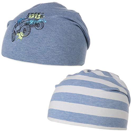 maximo Gorro Reversible Freestyle Kids Beanie para niños (55 cm - Azul)