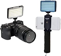 【Unique Design】: CM-L50 multi-functional Led light, with 50 LED bulbs, 1/4 external port. Horizontal 360 degrees for any direction fixing. Bank-card size, light and easy to carry. It is suitable for users of cellphone, DSLR and mirrorless camera. It ...