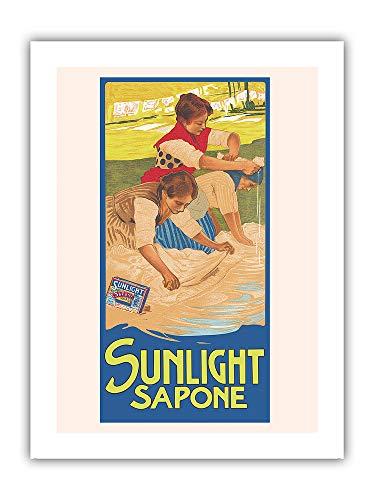 Pacifica Island Art Sunlight Soap (Sapone) - Poster pubblicitario vintage di Leopoldo Metlicovitz c.1914 - Stampa su carta opaca di alta qualità, 61 x 81 cm