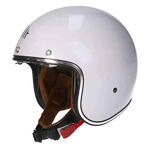 MT Le Mans II SV · Jet-Helm · Motorrad-Helm Roller-Helm Scooter-Helm Bobber Mofa-Helm Chopper Retro Cruiser Vintage Pilot Biker ECE 22.05 (Weiß, XXL)