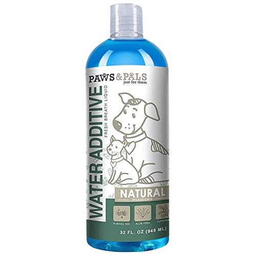 Dog Breath Freshener Water Additive - Dental Care Bad Breath Treatment for Dogs & Cats 32-oz Mouthwash Best for Pet Oral Fresh Teeth Cleaner Freshner Cleaning Plaque Tartar Mouth Wash Liquid Remover