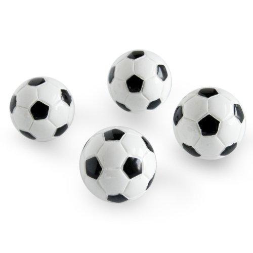 Trendform Verschiedene beliebte Form Büromagnete - Fußball (1 Satz 4), Metall, Silver, 25 x 10 x 3 cm