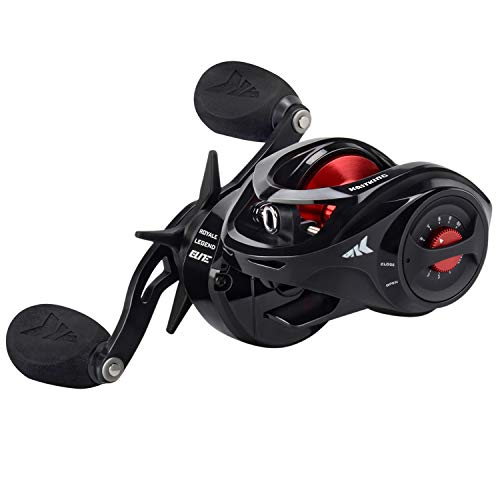 KastKing Royale Legend Baitcasting Reels,Elite Series Fishing Reel,7.3:1 Gear Ratio,Right Handed,Jet Black