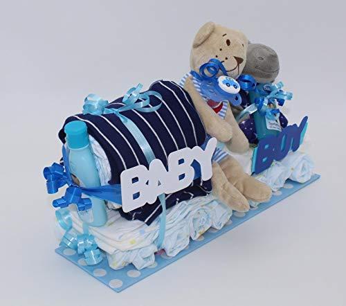 Windeltorte Blauer Zug