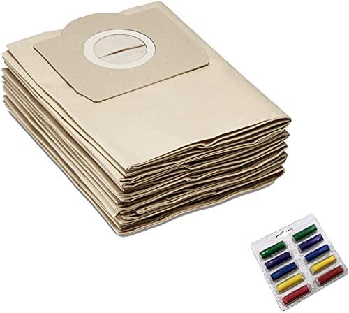 Paquete de 8 bolsas de repuesto compatibles con Karcher WD3 WD3200 WD 3300 MV3 A2204 SE4001 6.904-051 6959-130 Piezas para aspiradora Accesorios