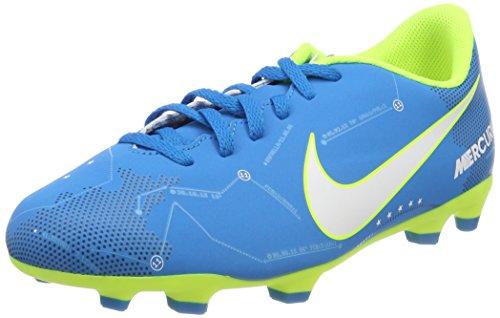 Nike Unisex-Kinder Mercurial Vortex III Neymar FG JR 921490 Fußballschuhe, Blau (Blue Orbit/White Blue Orbit-Armory Navy), 38.5 EU