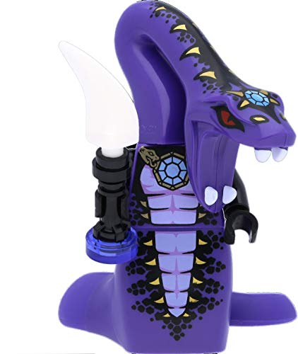 LEGO Ninjago - Minifigure Pythor P. Chumsworth (Anacondrai) - Legacy con arma