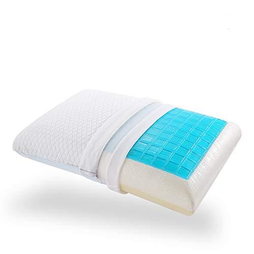 Nesaila Oreiller en mousse à mémoire de forme, oreiller en gel refroidissant pour les personnes...