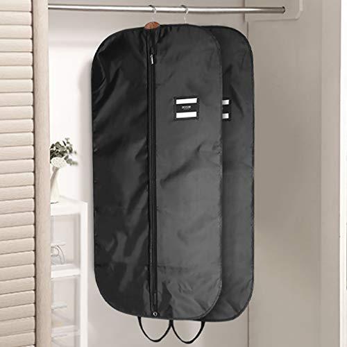 ecooe 2 x Schwarz Kleidersack Polyester Kleiderhülle Kleiderschutz Aufbewahrung 110 × 60 cm