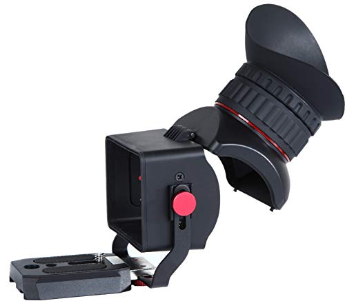 Movo VF40-PRO Universal 3X Magnifying LCD Viewfinder with Flip-Up Eyepiece and Adjustable Diopter - for 3-3.2' Screens - DSLR Viewfinder Compatible with Canon EOS, Nikon, Sony Alpha, Olympus and Penta