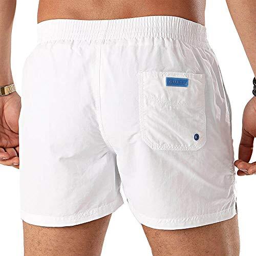 Guess Traje de baño Hombre en Tela Blanca F02T00TEL27-A009