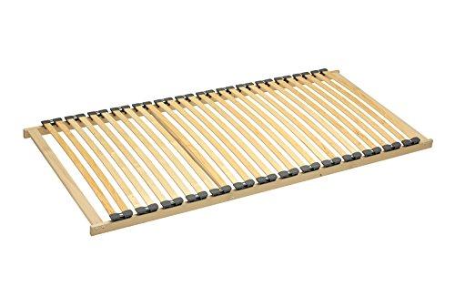 SAM Lattenrahmen 120x200 cm, Nicht höhenverstellbar, Lattenrost mit Härtegradeinstellung im Mittelbereich, 28 Federholzleisten