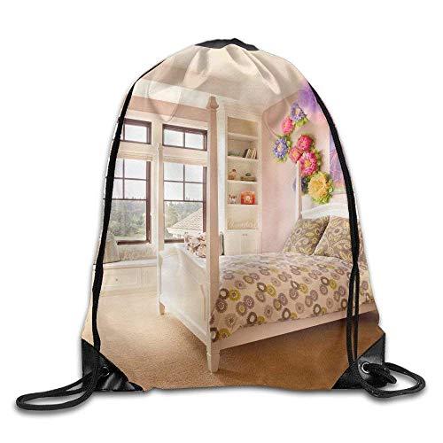 ZHIZIQIU Drawstring Bags Bulk Girls Bedroom Paint White Red Colors Sofa Bed Drawstring Backpack Bag Shoulder Bags Bag for Adult Size: 4133cm