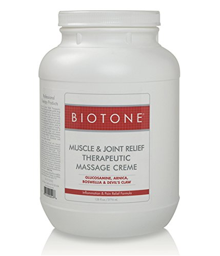 Read About BIOTONE Muscle & Joint Therapeutic Massage Creme - Gallon (128oz Cream)
