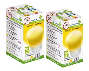 Colpharma Lampadina LED ANTIZANZARE 11W, E27, LED A 70