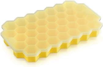 YXZQ DIY خلية النحل سيليكون شبكة العفن مع غطاء مكعب الثلج المجمد أداة صنع للمطبخ