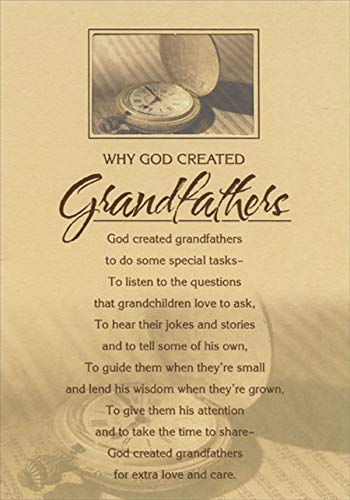 Designer Greetings Why God Created Grandfathers Religious/Inspirational Birthday Card