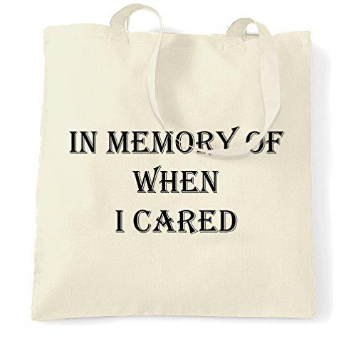 Tote Einkaufstasche Geschenk in Memory of, wenn ich Pflege Nihilist Gothic Metall Logo Funny Sassy Teenager Emo Rude Ernährung Nihilismus