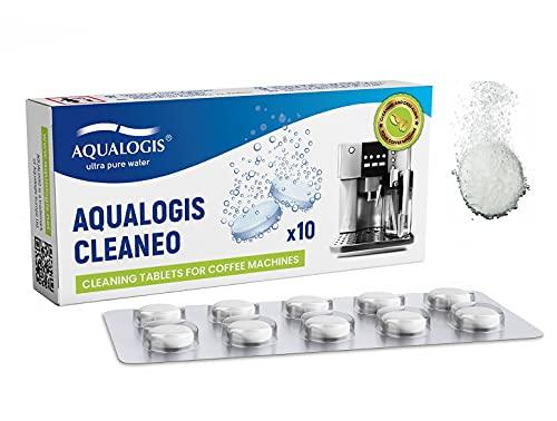 Aqualogis Cleaneo Kaffeereiniger-Tabletten Reinigungstabletten für Kaffeevollautomaten passend für alle Marken (10 Stück)