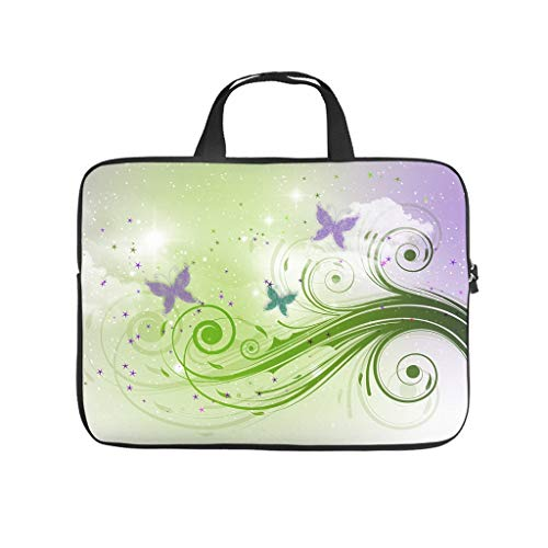 magic butterfly tree Laptop bag Design Laptop Case Bag Customized Shockproof Notebook Carrying Case with Portable Handle for Women Men white 17 zoll
